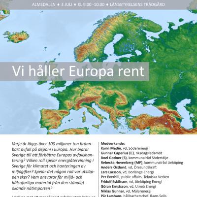Seminarie i Almedalen - Vi håller Europa rent