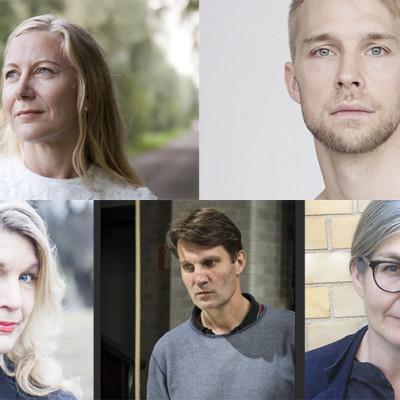Konstnärsnämndens 10-åriga stipendium till fem konstnärer inom teater, dans och film