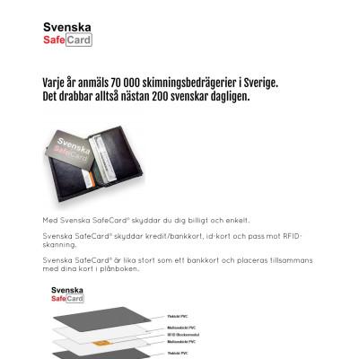 Produktblad Svenska SafeCard®