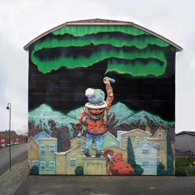 Suomen ensimmäinen koko talon kattava muraaliteos maalataan Sipooseen