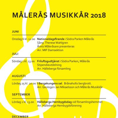 Målerås Musikkårs konserter hösten 2018