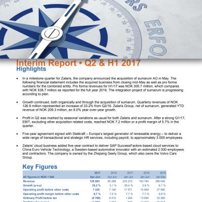 300FIN Zalaris Interim Report Q2 2017