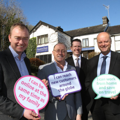 Tim Farron MP hails arrival of ultrafast fibre broadband in three villages in South Lakeland