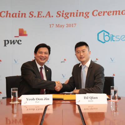 VeChain S.E.A. becomes a portfolio company of PwC's incubation programme to accelerate the application of Blockchain in Hong Kong and South East Asia markets
