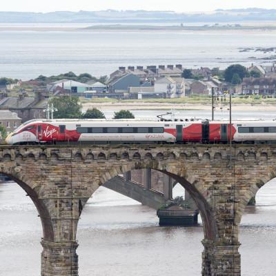 Virgin Azuma debuts in Scotland on east coast test run