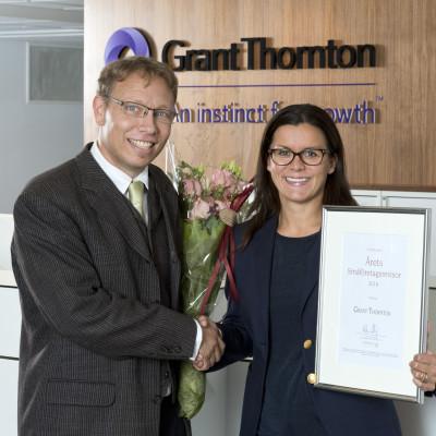 """Grant Thornton vinner utmärkelsen """"Årets småföretagsrevisor"""""""