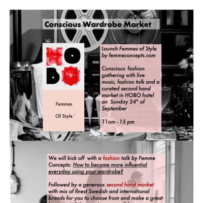 Conscious Wardrobe Market @HOBO Premiär