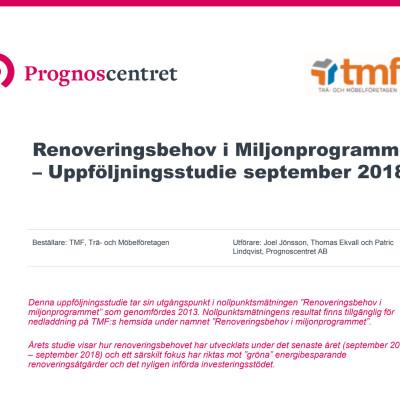 Renoveringsbehov i miljonprogrammet - 2018