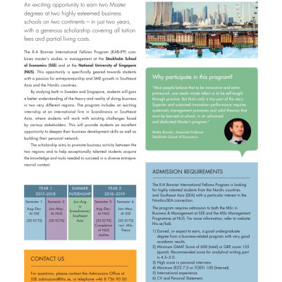 Fact Sheet - K-A Bonnier International Fellows Program