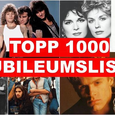 Radio Norge feirer 10 år med Topp 1000 & har laget en TOPP 1000 JUBILEUMSLISTE!