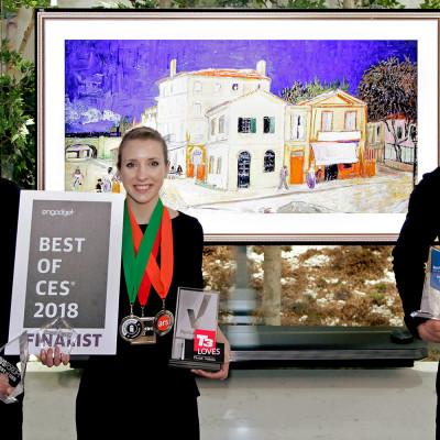 LG ELECTRONICS MOTTAR PRISEN FOR BESTE TV-PRODUKT UNDER CES 2018 MED LG AI OLED TV