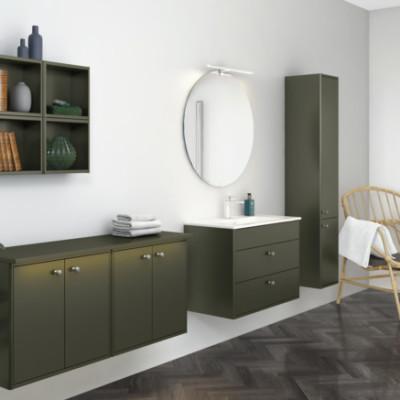 Nye badeværelsesmøbler i efterårets største trendfarve