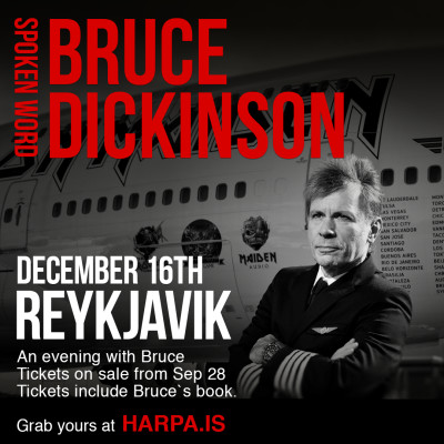 An evening with Bruce Dickinson from Iron Maiden