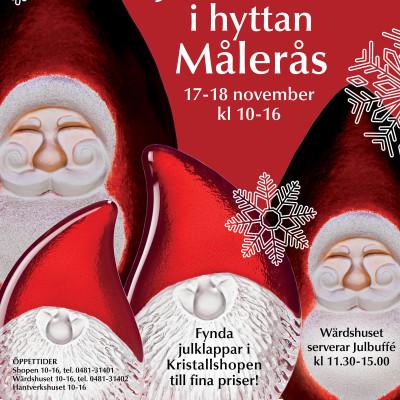 Julmarknad i Målerås glashytta