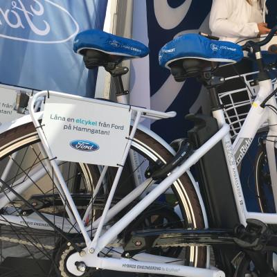 Almedalsbesökare cyklade till Paris på Fords elcyklar