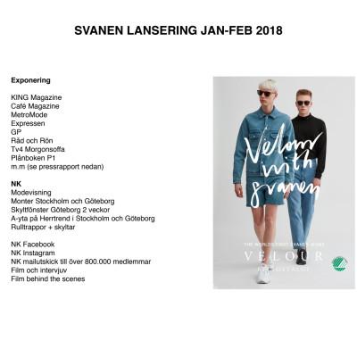 Exponering  Velour with Svanen Jan-Feb 2017