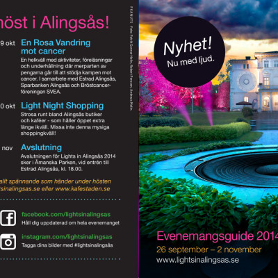 Lights in Alingsås - informationsfolder med slinga