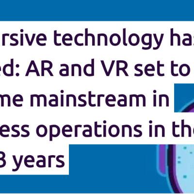 AR og VR blir mer vanlig i næringslivet de neste tre årene