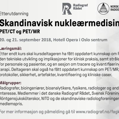 Skandinavisk nukleærmedisinkurs om PET/CT og PET/MR