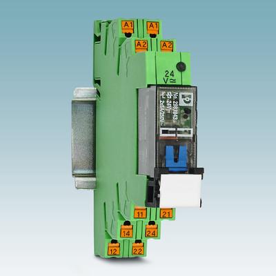 Elektromekaniske releer med manuell betjening