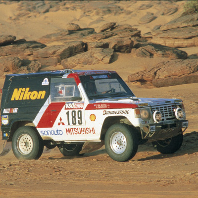 Mitsubishi fylder 100 år i 2017. Et tilbagekig på Mitsubishi Pajeros 12 imponerende sejre i verdens hårdeste rally - Dakar Rally