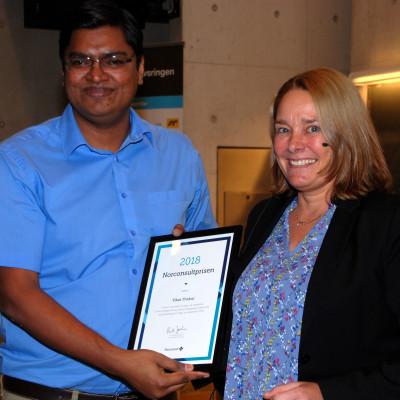 Norconsultprisen 2018 til Vikas Thakur