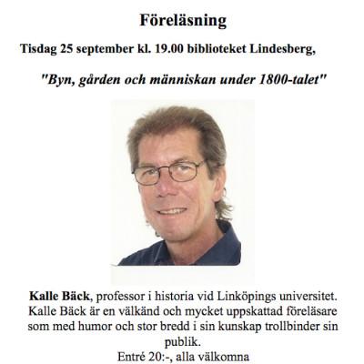 Linde Bergslags Släktforskarförening: Föreläsning