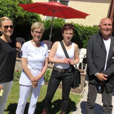 Anna Lönn Lundbäck, Karin Fagermark, Britta Brus och Alexander Hutter från Hyresgästföreningen i Almedalen 2017