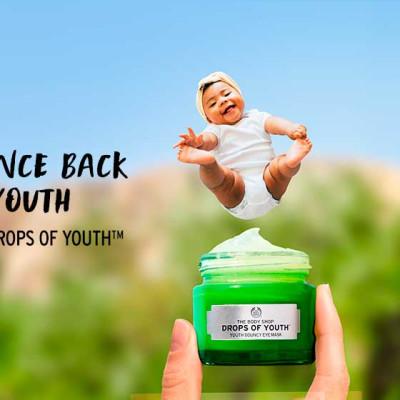 Gi trøtte øyne en powernap med Drops of Youth Bouncy Eye Mask & ungdommelig glød med Youth Gentle Foaming Wash!