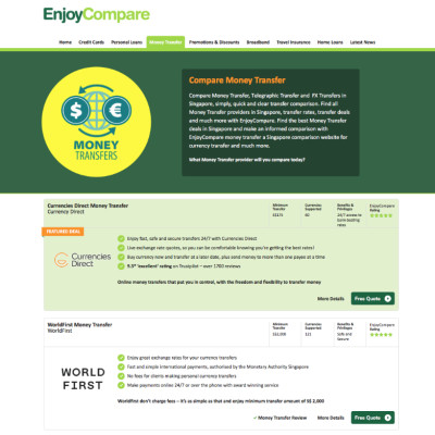 EnjoyCompare Expands Into Money Transfer Comparison