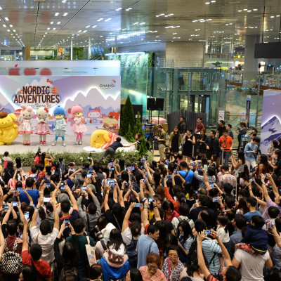 Hello Kitty & Friends visit Changi Airport  this June Holidays