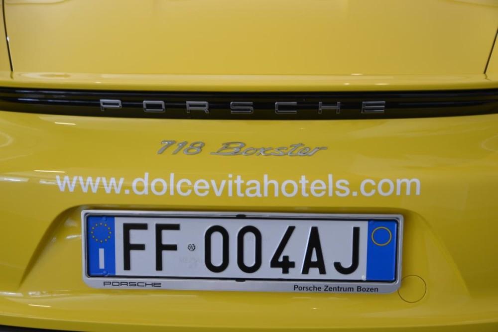 Porsche 718 Boxster der DolceVita Hotels in Südtirol
