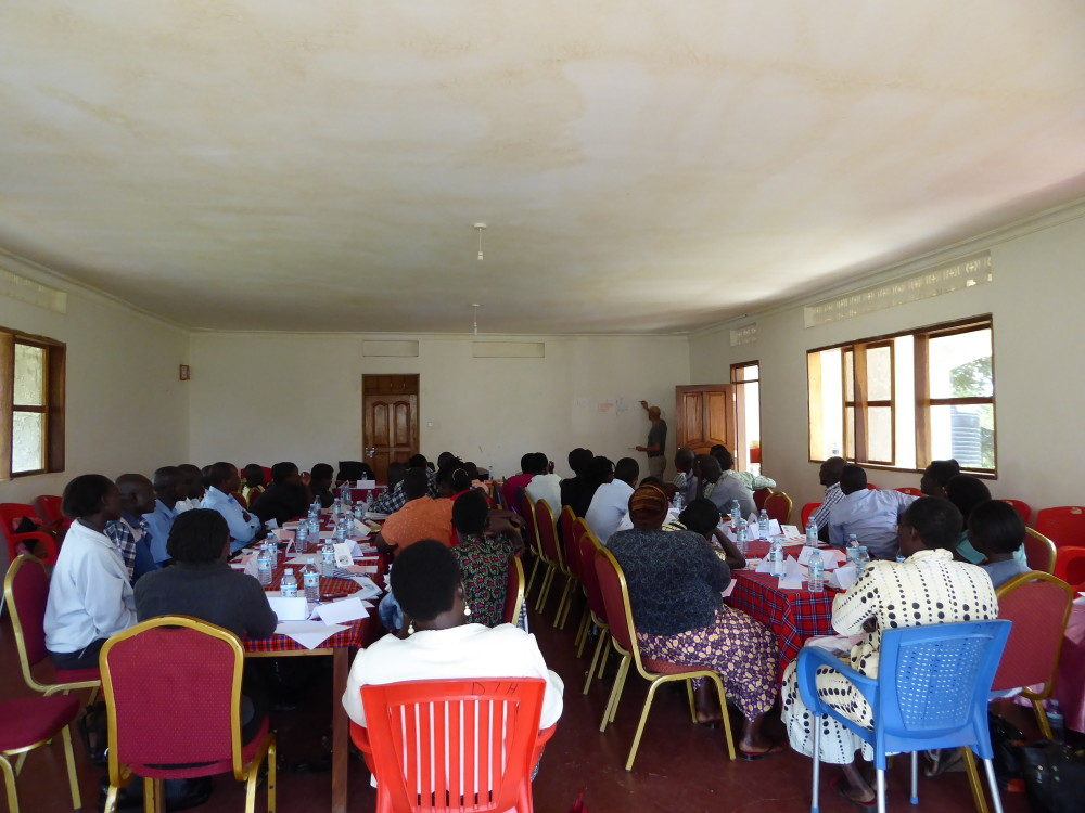 Health workers at MyChild Card training workshop
