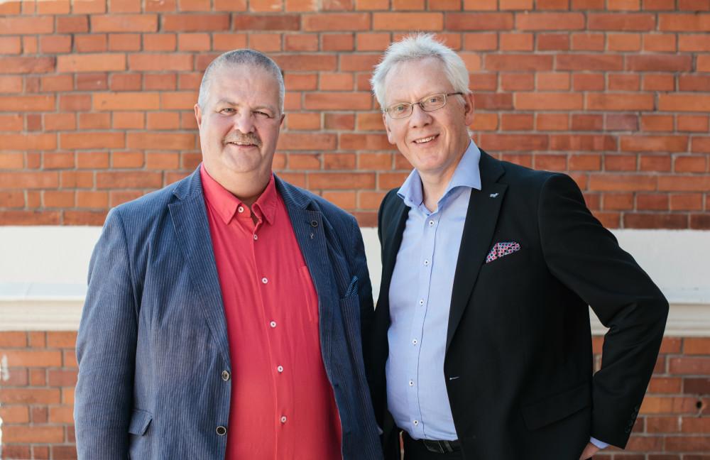 Peter Lindström (nätchef) och Anders Jonsson (VD)