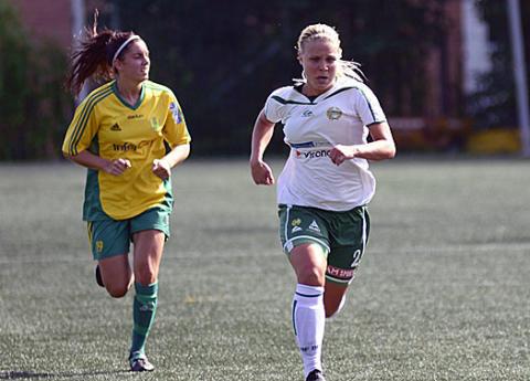 Josefin Nordin i matchen mot Bollstanäs