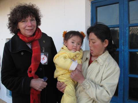 Åsa Molde på hälsoklinik i Nordkorea
