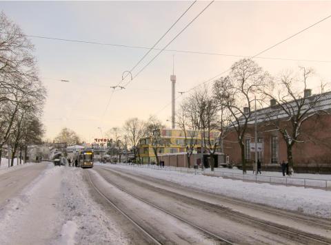 Hotell/Utställningslokaler Djurgården - Fasad mot Djurgårdsvägen