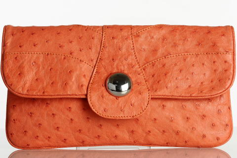 The Krew Clutch - Cinnamon Ostrich LIMITED EDITION
