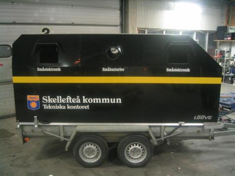Släpvagn gör insamlingen enklare i Skellefteå