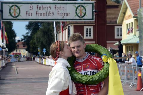 Jesper Dahlström och Nina Gässler vann CykelVasan 2012