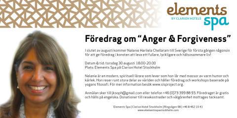 """Föredrag om """"Anger & Forgiveness"""""""