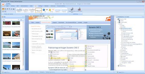 Ny version av Dynamix CMS, publiceringsverktyget för redaktörer och utvecklare