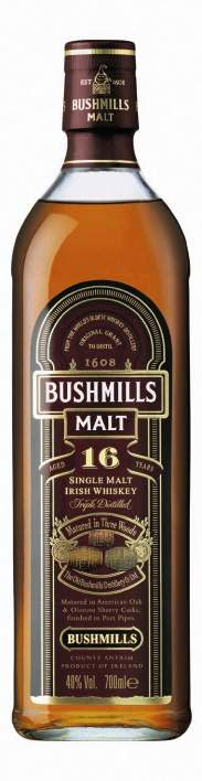 BUSHMILLS® 16 YEAR OLD SINGLE MALT, 70 cl 40,0 Vol %