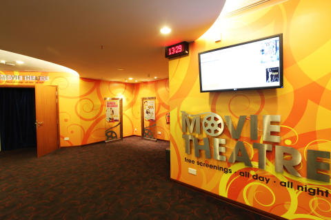 Movie theatre entrance