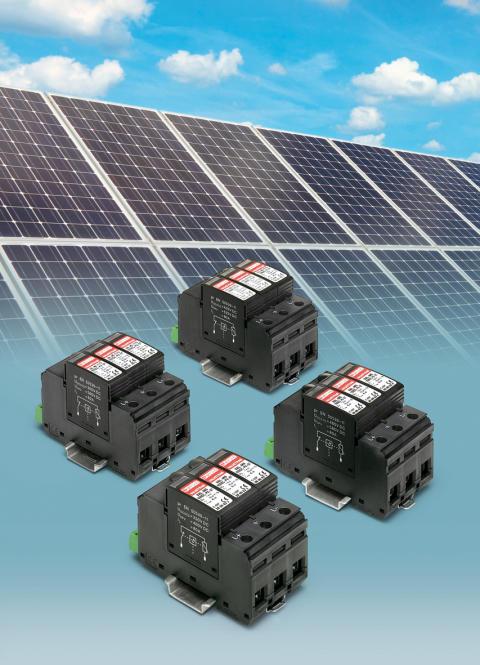 Överspänningsskydd för solcells applikationer