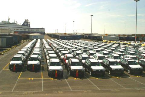 Cars in the Roro Terminal, Gothenburg