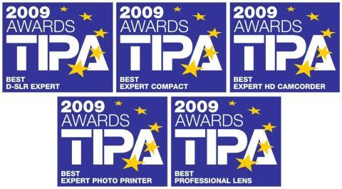 Canon får fem topputmärkelser av TIPA-juryn