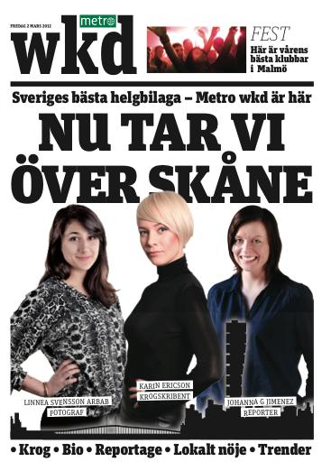 Metro WKD lanseras i Skåne