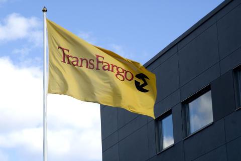 TransFargos flagga utanför huvudkontoret