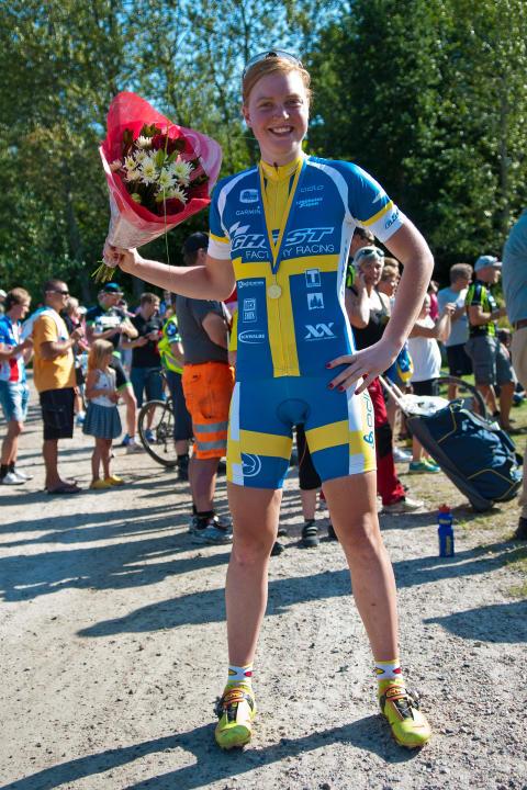 Alexandra Engen - svenska mästarinna i MTB-marathon.